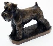 David Geenty Bronze Sculpture - Schnauzer Dog Statue