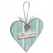 Happiness Wooden Heart Plaque Love Home