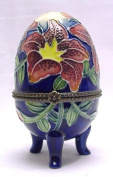 Lily Design, standing egg shaped hinged trinket box