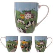 Jan Pashley Cows in the Countryside Bone China Mug