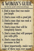 Large Wooden Hanging Message Plaque Or Sign DS 30 x 45cm Reads A Womans Guide