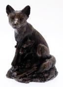David Geenty Bronze Sculpture - Earth Mother Fox & Cubs