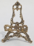 Small decorative brass picture easel
