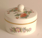 Wedgwood 7.6cm round box with lid - pattern is Kutani Crane - KC1