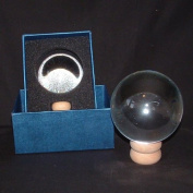 Crystal Ball on Stand - 80mm