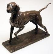 David Geenty Bronze Sculpture - Pointer Dog Statue
