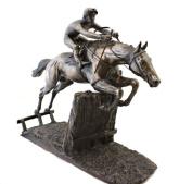 Bronze Race Horse Sculpture At Full Stretch D Geenty