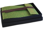 Olive Sari Silk Handmade Photo Album With Box, Classic Style pages