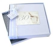 White Cotton Cards 30th Birthday Photo Album, Medium, Silver Champagne