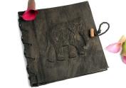 Mini Dark Elephant Photo Album, Classic Style pages