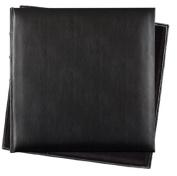 Black Bonded Leather Traditional Interleaved Photoboard Album