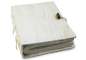 Small White Bark Handmade Photo Album, Classic Style pages with Cotton Gift Bag