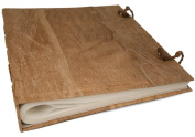 Medium Bark Handmade Photo Album, Classic Style pages with Cotton Gift Bag