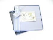 White Cotton Card Christening Daughter