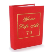 Big Red Book - Your Life At 70 - 70th Birthday Photo Album