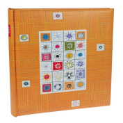 Stamps Orange Traditional Photo Album - 100 Sides