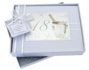 White Cotton Cards 18th Birthday Photo Album, Small, Silver Champagne