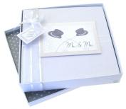 White Cotton Cards Mr & Mr Medium Wedding Album