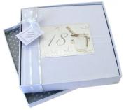 White Cotton Cards 18th Birthday Photo Album, Medium, Silver Champagne