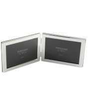 Deluxe 10cm x 15cm Double Silver Plated Frame - Landscape By Living Images
