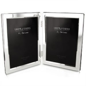 Double Silver Plated 5 x 7 Photo Frame