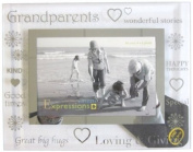 Sixtrees 3-282-64 15cm x 10cm Moments Grandparents Glass and Mirror Photo Frame