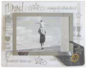 Sixtrees 3-281-64 15cm x 10cm Moments Dad Glass and Mirror Photo Frame