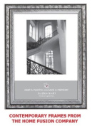 Silver & Black Swirl Art Nouveau Photo Picture Frame 25cm x 20cm