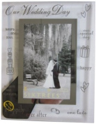 Sixtrees 3-275-46 10cm x 15cm Moments Our Wedding Day Glass and Mirror Photo Frame