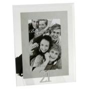21st Birthday - Mirrored Motif & Glass Photo Frame