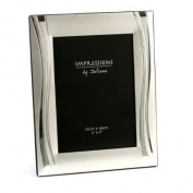 Satin Silverplated Shiny Wavy Photo Frame 13cm x18cm