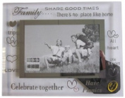 Sixtrees 3-272-64 15cm x 10cm Moments Family Glass and Mirror Photo Frame