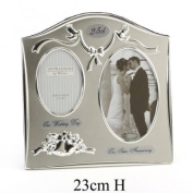Wedding Bells Silver Plated Photo Frame, 25th Silver Wedding Anniversary Gift