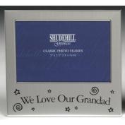 We Love our Grandad Photo Frame 13cm x 8.9cm (satin silver colour) 73590