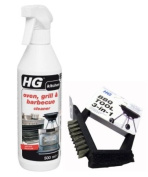 500ml HG Hagesan Oven Grill & BBQ Barbeque Cleaner with FREE BBQ Cleaning Brush