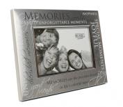 Memories Satin Silver Photo Frame
