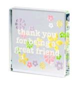 Thank You Friend Spaceform Glass Keepsake Token