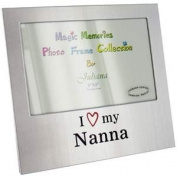 I Love My Nanna Aluminium Photo Frame