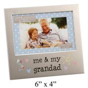 Me & My Grandad 15cm x 10cm Aluminium Frame - FA519GD