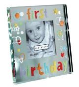 NEW! Spaceform Gift Mini Mirror Frame First Birthday 1287