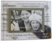 Sixtrees 3-279-64 15cm x 10cm Moments Mum Glass and Mirror Photo Frame