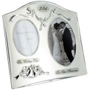 25th Wedding Anniversary Double Photo Frame