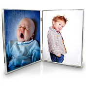Silver Plated Double 8 x 10 Photo Frame