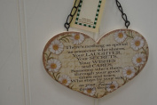Heart Shaped Friendship Poem, Wooden Plaque.