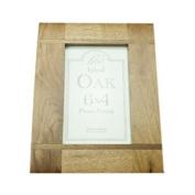 Transomnia Oak Wood Inlay Photo Frame 6x4