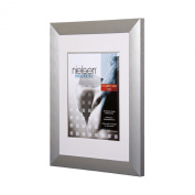 Nielsen Largo Brushed Silver A2 Plastic Glass (420 x 594 mm),silver A2 metal poster frames