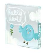 Spaceform Miniature Glass Token (Birth) Hello World - Blue