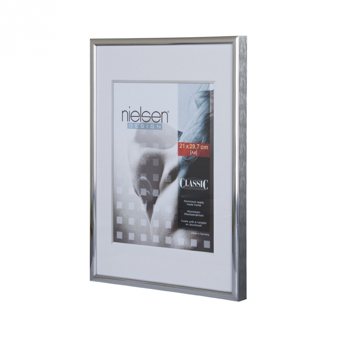 Nielsen Classic Polished Silver 70 x 70 cm, Silver Square Picture ...