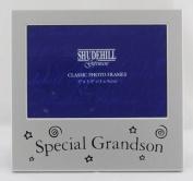 Special Grandson 13cm x8.9cm Satin Silver Photo Frame