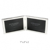 Widdop Bingham 18cm x 13cm x 2 Silver plate Double Photo Frame